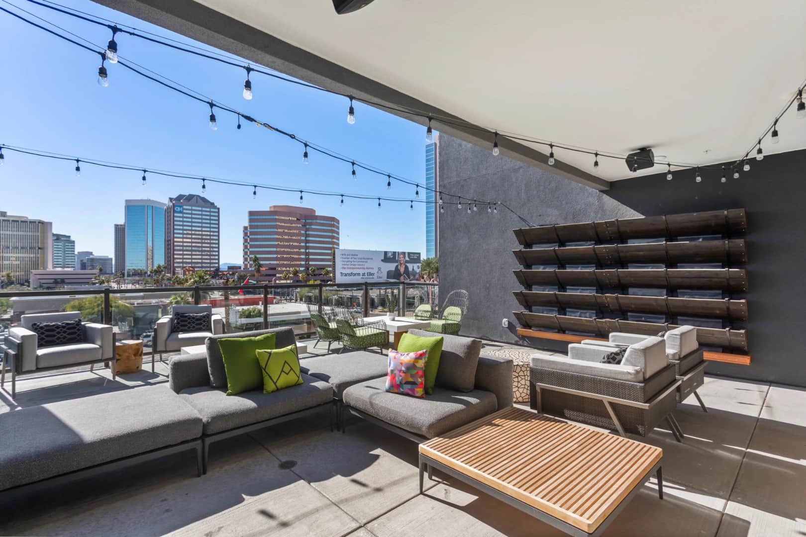 City View from Apartment Terrace   Alta Central Phoenix AZ Apartments